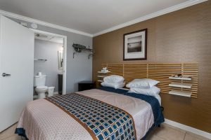 One Queen Guestroom at Oceanfront Hotel | Bordwalk Charlee Hotel