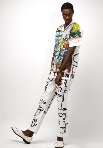 Hand Painted Camp Shirt and Trousers Set