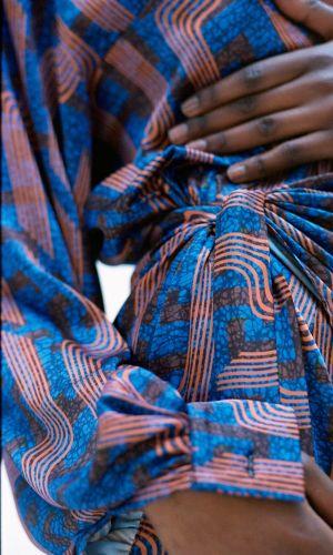 Linear Print Wrap Skirt by Ankara On Brand