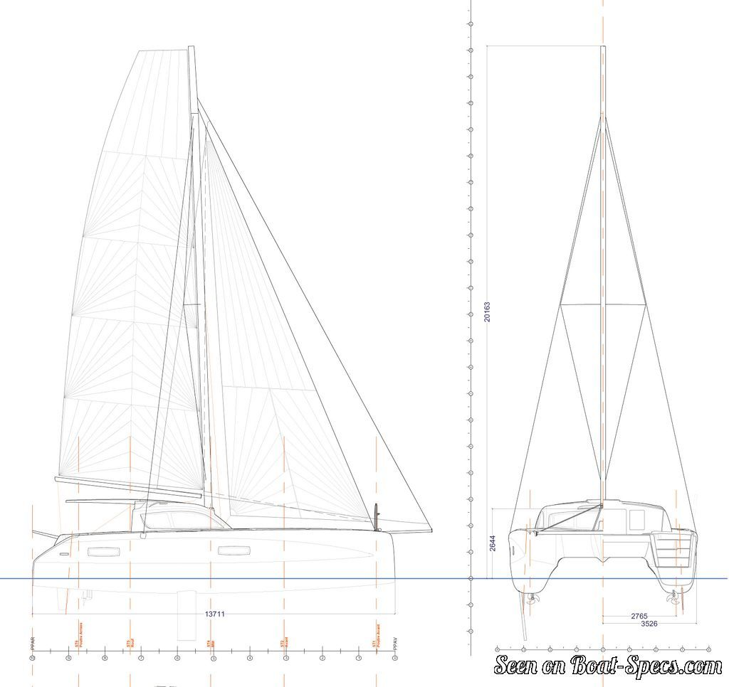 Outremer 4x Outremer Yachting Sailboat Specifications