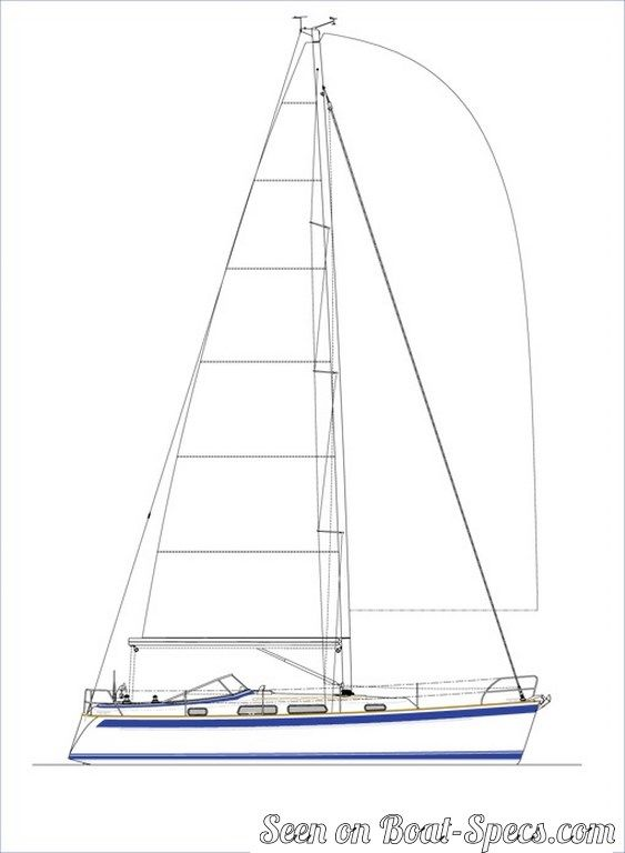 Hallberg-Rassy 372 standard sailboat specifications and