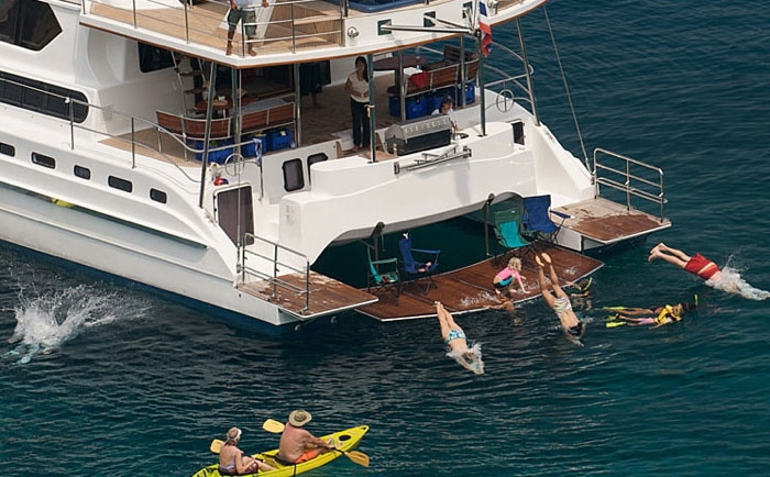 Luxury Crewed Catamaran Jacuzzi Cat Day Charter 50 60