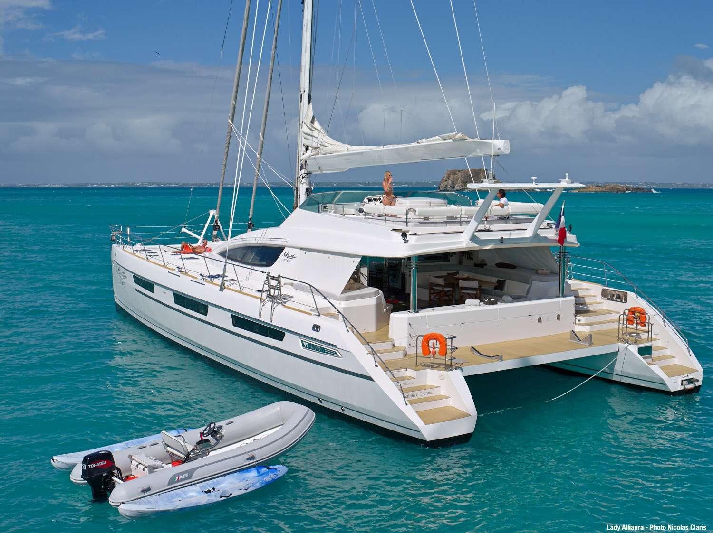 Luxury Crewed Catamaran LADY ALLIAURA Privilege 75 4 Cabins Virgin Islands Leeward