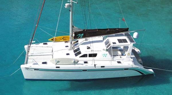 Crewed Sailing Catamaran NUTMEG St Francis 50 4 Cabins
