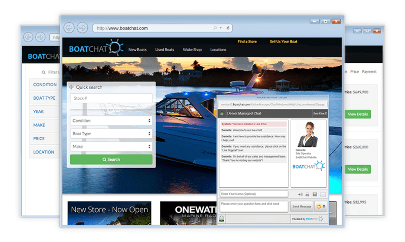 Live Chat Software for Boat Dealers