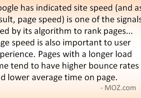 Slow loading code can hurt SEO