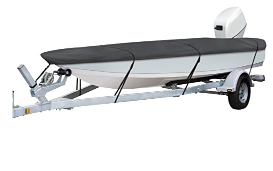 Classic Accessories StormPro Heavy-Duty Boat Cover With Support Pole For Utility/Fishing Boats