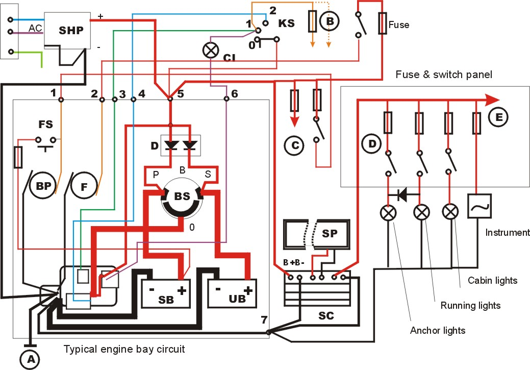 Simple Wiring Diagram For Small Craft Boat Design Net