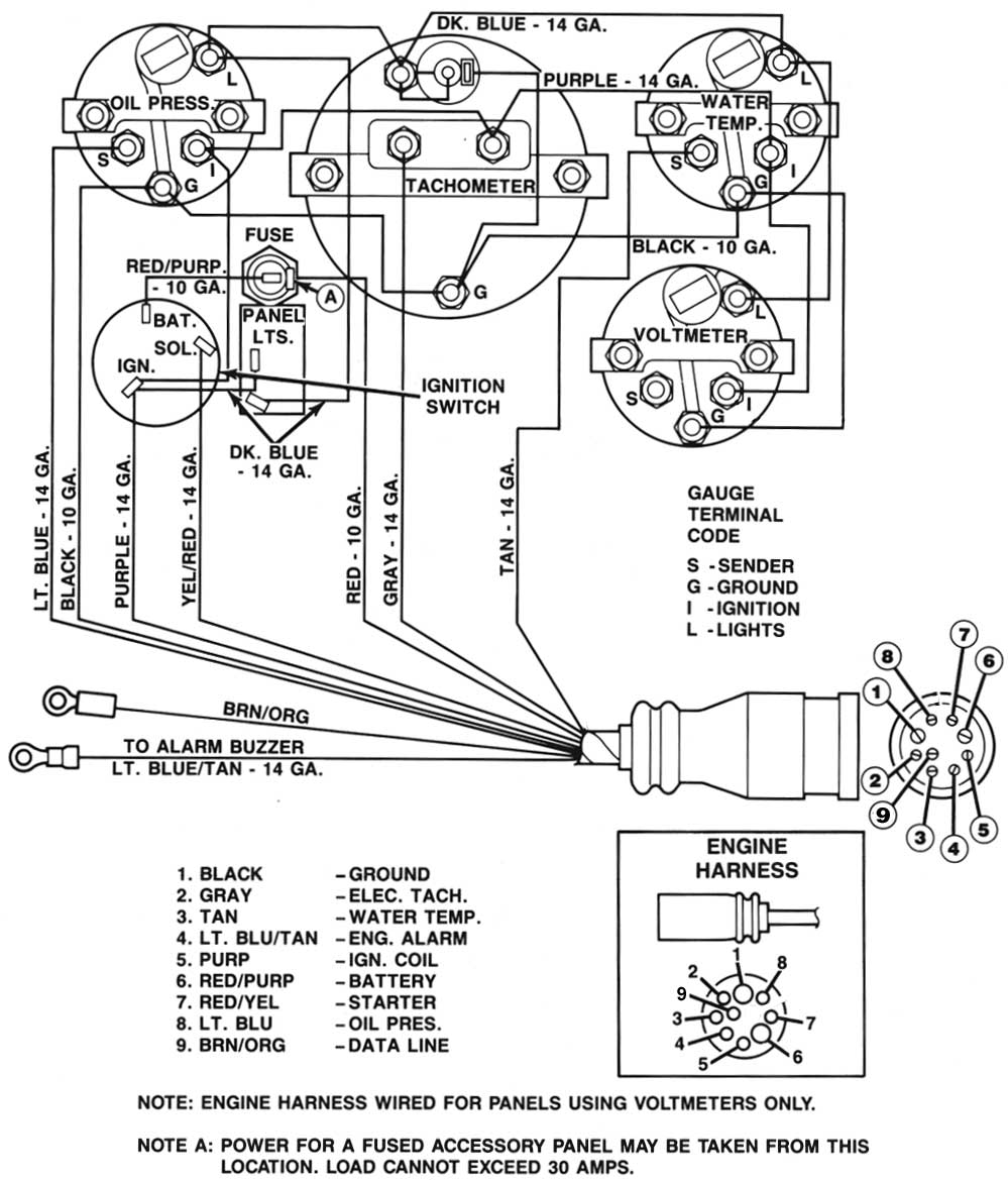 medium resolution of gauge wiring diagram for mercruiser 383 new install boat design net caterpillar wiring harness merc instrument