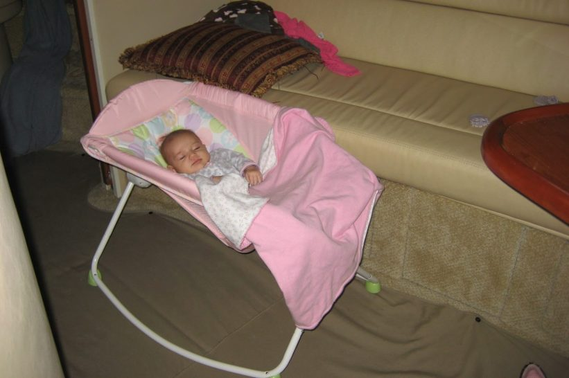Baby Bed Options on a Boat  1d223736e