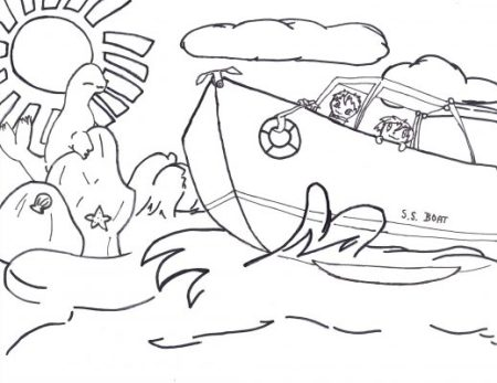 Boat coloring pages | Coloring pages to download and print | 347x450