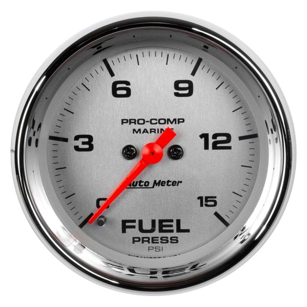 medium resolution of auto meter marine 2 06 chrome in dash mount electric fuel pressure gauge