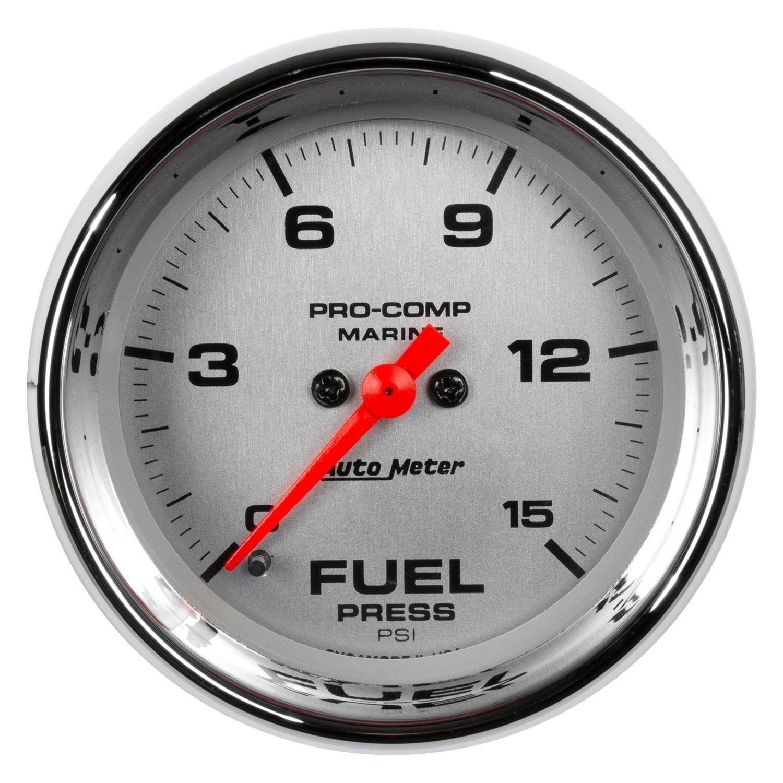 hight resolution of auto meter marine 2 06 chrome in dash mount electric fuel pressure gauge