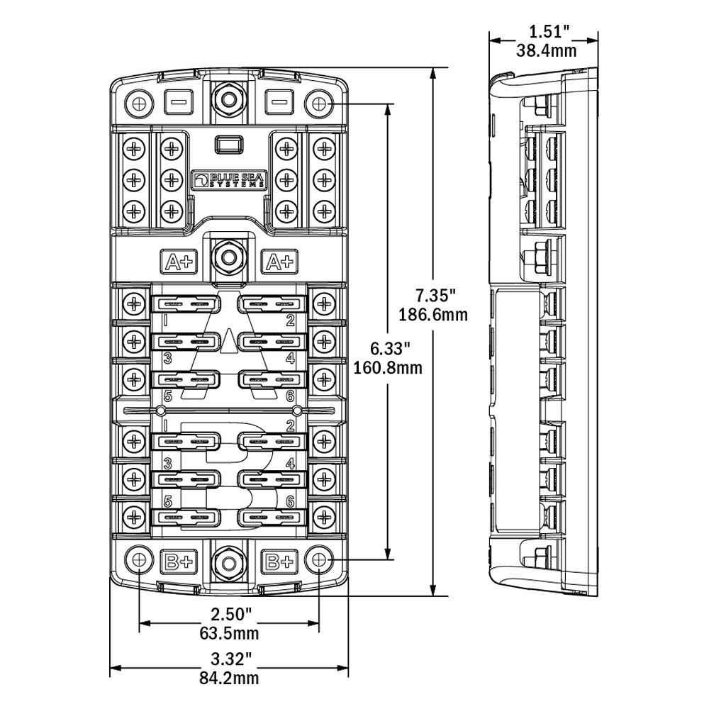 medium resolution of blue sea fuse block wiring diagram boat switch fuse panel kit w trolling motor wiring harness 1986794
