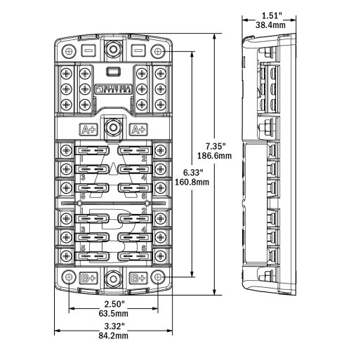 small resolution of blue sea fuse block wiring diagram boat switch fuse panel kit w trolling motor wiring harness 1986794