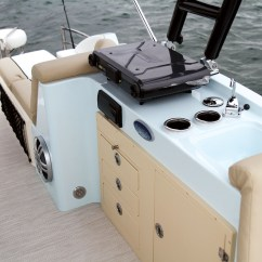 Fishing Pontoon Chair Big Portable Chairs Caravelle Razor 258 Party Fish - Boating World