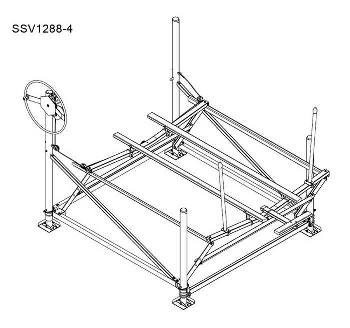 ShoreStation SSV1288-4 Cantilever Boat Lift