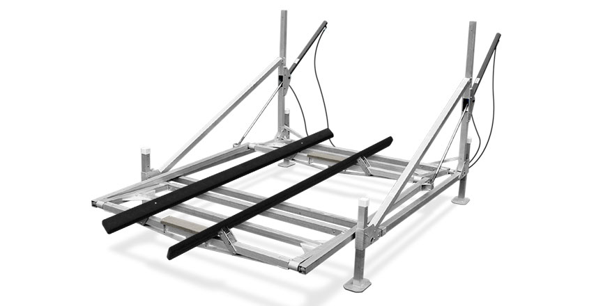 3900 lb Hewitt Hydraulic Cantilever Boat Lift 113