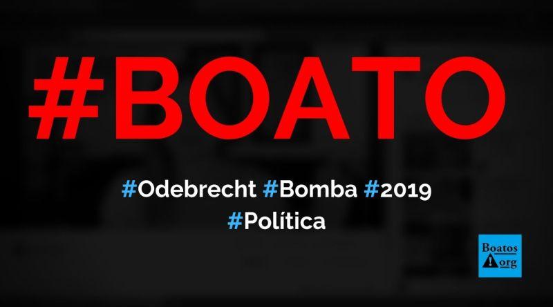 Bomba, a Suíça liberou backup de sistema da Odebrecht em 2019, diz Joice Hasselmann (Foto: Reprodução/Facebook)