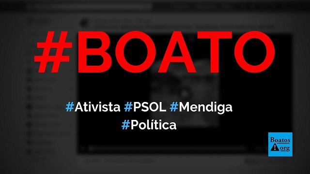 Fernanda Costa, ativista da ideologia de gênero do PSOL, destratou mendiga em vídeo, diz boato (Foto: Reprodução/Facebook)