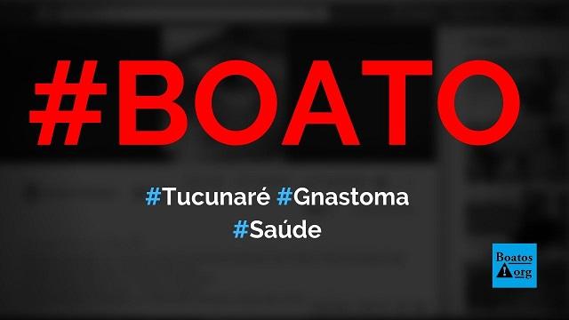 Gnastoma Spirinelis presente no Tucunaré já infectou 400 pessoas e atinge olho, diz boato (Foto: Reprodução/Facebook)