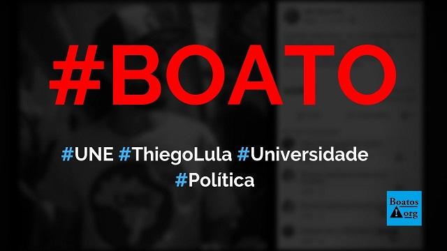 Thiego Lula da Silva, da UNE, tem 33 anos e está há 15 anos no curso de ciências sociais , diz boato (Foto: Reprodução/Facebook)