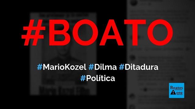 Mario Kozel Filho foi assassinado por Dilma a tiros em 1968, diz boato (Foto: Reprodução/Facebook)