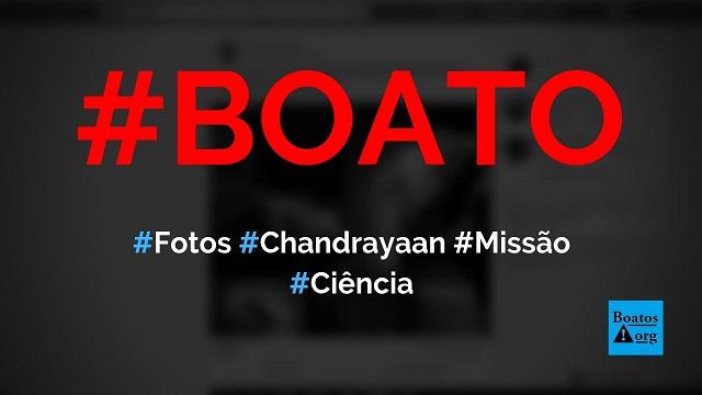 Missão indiana Chandrayaan divulga fotos incríveis da Terra tiradas do espaço, diz boato (Foto: Reprodução/Facebook)