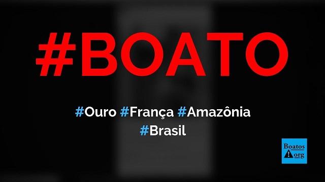 Barras de ouro são enviadas da Amazônia para a França por meio de ONGs, diz boato (Foto: Reprodução/Facebook)