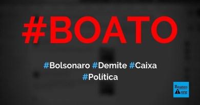 Bolsonaro demite presidente da Caixa após assessores do PT ganharem na Mega-Sena, diz boato (Foto: Reprodução/Facebook)