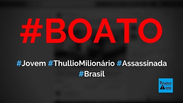 Mulher que beijou Thullio Milionário em show foi morta pelo namorado, diz boato (Foto: Reprodução/Facebook)
