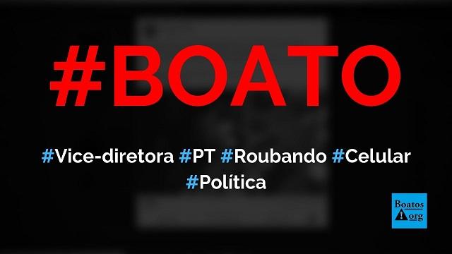 Vice-diretora do PT de Porto Alegre, Mara Jaqueline, é flagrada roubando celular, diz boato (Foto: Reprodução/Facebook)