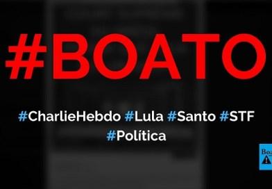 Charlie Hebdo critica, em sua capa, decisão do STF que soltou Lula da prisão, diz boato (Foto: Reprodução/Facebook)