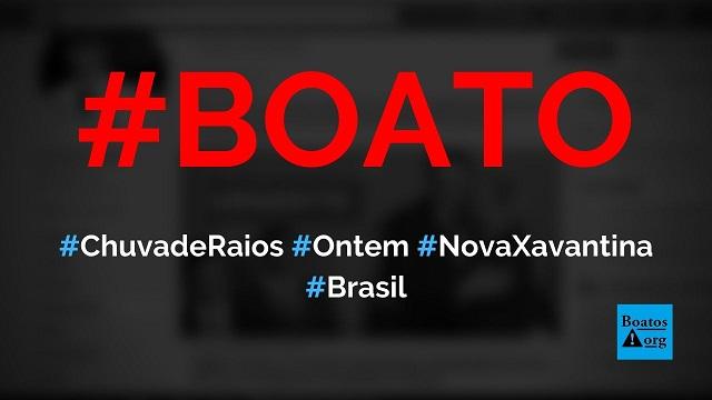 Chuva de raios ontem matou 80 bois em Nova Xavantina (MT), diz boato (Foto: Reprodução/Facebook)