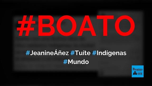 Jeanine Áñez disse que sonha com a Bolívia livre de rituais satânicos indígenas, diz boato (Foto: Reprodução/Facebook)