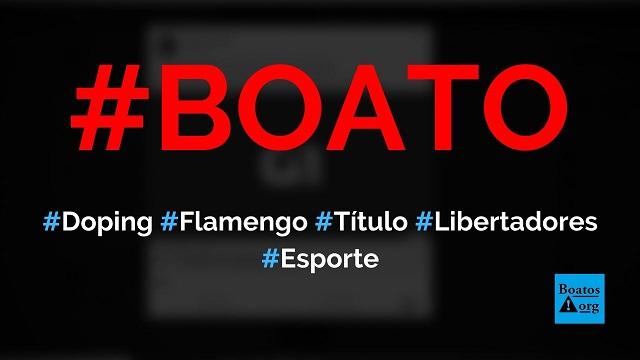Suspeita de doping pode tirar o título do Flamengo na Libertadores, diz boato (Foto: Reprodução/Facebook)