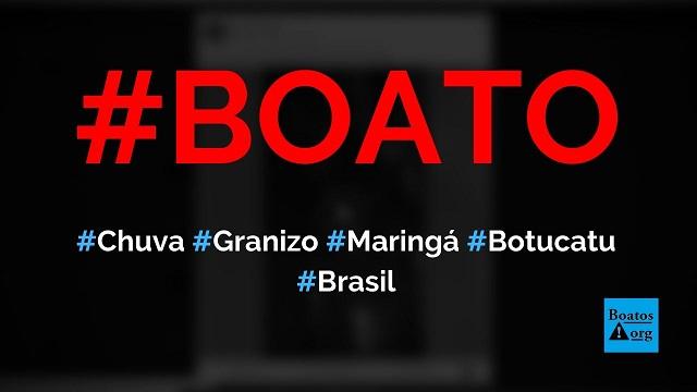 Vídeo mostra chuva de granizo em shopping de Maringá (Botucatu), diz boato (Foto: Reprodução/Facebook)