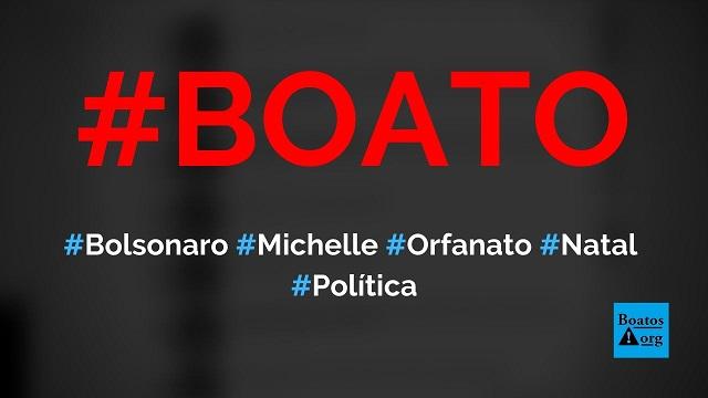 Bolsonaro e Michelle visitaram orfanato no dia de Natal, diz boato (Foto: Reprodução/Facebook)