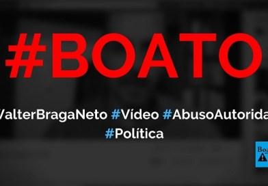 Walter Braga Neto, secretário de Moro, manda recado a deputados sobre Lei de abuso de autoridade, diz boato (Foto: Reprodução/Facebook)