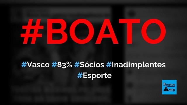 Vasco tem 83% de inadimplência no programa de sócio-torcedor, diz boato (Foto: Reprodução/Facebook)