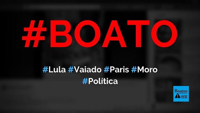 Lula é vaiado em Paris (França) após chamar Moro de mentiroso, mostra vídeo, diz boato (Foto: Reprodução/Facebook)