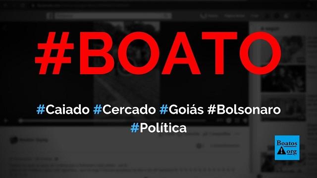 Ronaldo Caiado é cercado pelo povo de Goiás após anunciar que rompeu com Bolsonaro, diz boato (Foto: Reprodução/Facebook)
