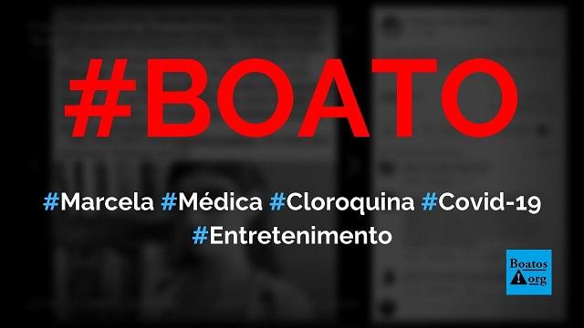Dra. Marcela Pereira, médica infectologista, conduz estudo sobre cloroquina e Covid-19, diz boato (Foto: Reprodução/Facebook)