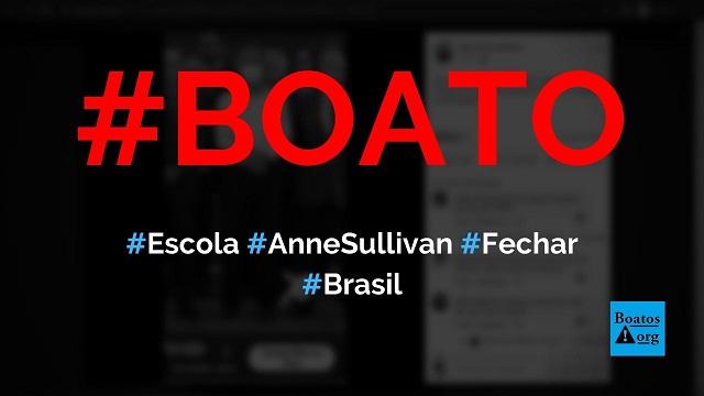 Escola Anne Sullivan, em São Paulo, vai fechar por falta de alunos, diz boato (Foto: Reprodução/Facebook)