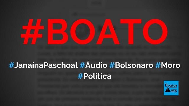 Janaína Paschoal grava áudio atacando Moro, defendendo Bolsonaro e denunciando Operação Storm nos EUA, diz boato (Foto: Reprodução/WhatsApp)