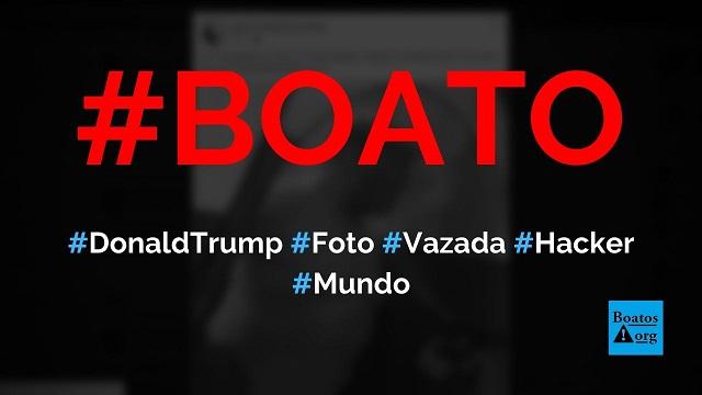 Hackers vazaram foto de Donald Trump se bronzeando com spray na Casa Branca, diz boato (Foto: Reprodução/Facebook)