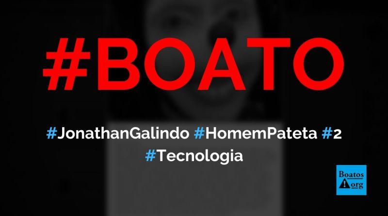 Homem Pateta chamado Jonathan Galindo é um psicopata que induz crianças ao suicídio, diz boato (Foto: Reprodução/Facebook)