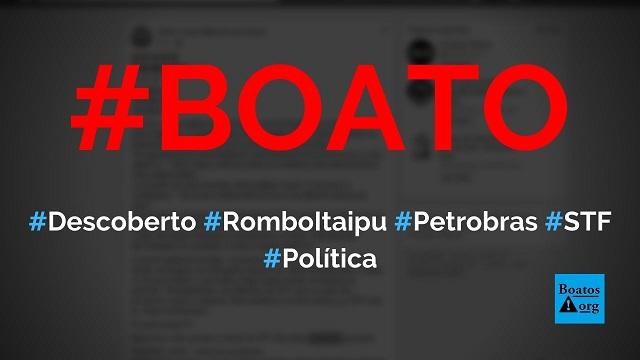 Ministros do STF deixam rombo em Itaipu similar ao rombo da Petrobras, diz boato (Foto: Reprodução/Facebook)