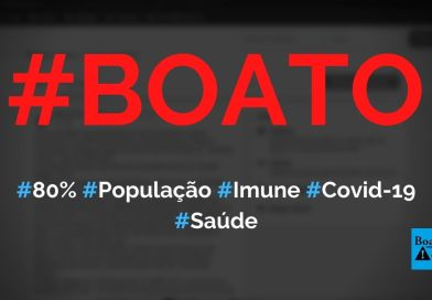 80% da população mundial é imune à Covid-19, diz Karl Friston, diz boato (Foto: Reprodução/Facebook)