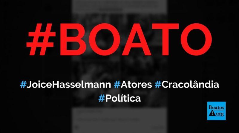 Joice Hasselmann contratou atores para atuarem como mendigos na cracolândia, diz boato (Foto: Reprodução/Facebook)